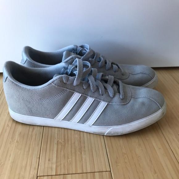 le adidas courtset grey scamosciato scarpe 9 poshmark